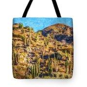 Giant Cordon Cactus Tote Bag