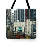 Downtown Chicago High Rise Construction Site Tote Bag
