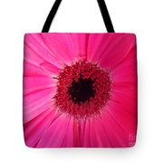 Flower Photography - Giant Pink Gerbera Daisy Tote Bag
