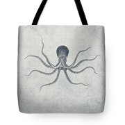 Giant Squid - Nautical Design Tote Bag by World Art Prints And Designs