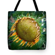 Giant Sunflower Drama Tote Bag
