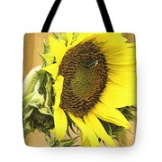 Giant Sunflower With Buds Tote Bag