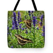 Giant Swallowtail Butterfly Couple Tote Bag