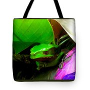 Giant Waxy Monkey Tree Frog Tote Bag