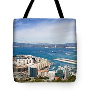 Gibraltar City And Bay Tote Bag