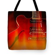 Gibson Es-335 On Fire Tote Bag