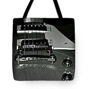 Black And White Les Paul Tote Bag