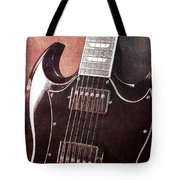 Gibson Sg Standard Red Grunge Tote Bag