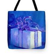 Gift In Blue Tote Bag