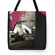 Gil Grant Technical Director Kvoa Tv 1969 Vignetted Color Added Collage 2013 Bob Curzon Photo Tote Bag