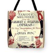 Gilbert And Sullivan Operas Tote Bag