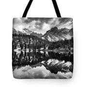Gilbert Lake And University Peak Tote Bag