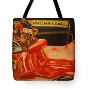 Gilles Villeneuve At Monaco 1980 Tote Bag