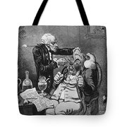 Gillray Cartoon: Quack Tote Bag