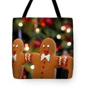 Gingerbread Men In A Line Tote Bag