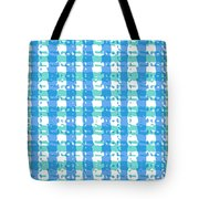 Gingham Glyphs Tote Bag