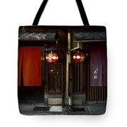 Gion Geisha District Doorways Tote Bag
