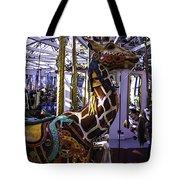 Giraffe Carousel Ride Tote Bag