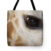 Giraffe Eye Tote Bag