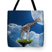 Giraffe Flying High Tote Bag