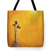 Giraffe Looking Back Tote Bag