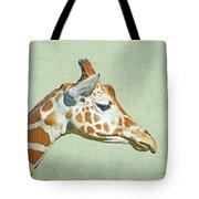 Giraffe Mug Shot Tote Bag