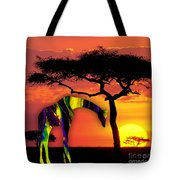 Giraffe Painting Tote Bag