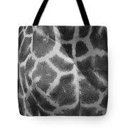 Giraffe Pattern Black And White Tote Bag