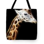 Giraffe Portrait Fractal Tote Bag