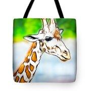 Giraffe Scrimshaw Tote Bag
