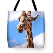 Giraffe Speak Tote Bag