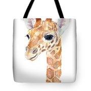 Giraffe Watercolor Tote Bag