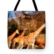 Giraffes At The Zoo Tote Bag