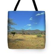 Giraffes In Samburu National Reserve Tote Bag