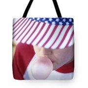 Girl American Baseball Cap Tote Bag
