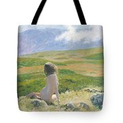 Girl And Cloud Tote Bag