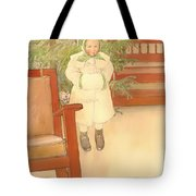 Girl And Rocking Chair Tote Bag