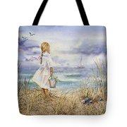 Girl At The Ocean Tote Bag