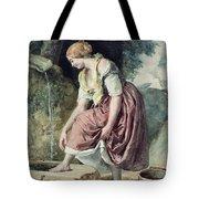 Girl At A Conduit Tote Bag