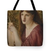 Girl At A Fountain Tote Bag