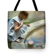 Girl At The Pond Tote Bag
