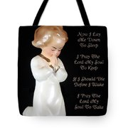 Girl Childs Bedtime Prayer Tote Bag