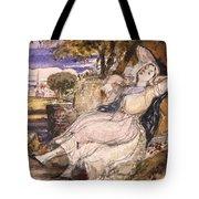 Girl Dreaming Tote Bag
