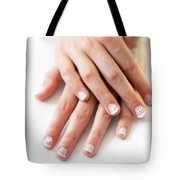 Girl Hands Tote Bag by Carlos Caetano