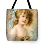 Girl Holding A Nest Tote Bag