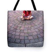 Girl In Circle Tote Bag