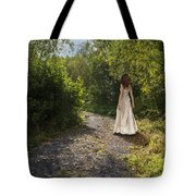 Girl In Country Lane Tote Bag