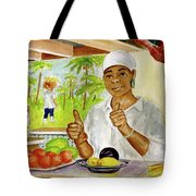 Girl In Dominica Mountains Tote Bag