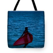 Girl In Red Float Tote Bag