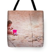 Girl In The Sand Tote Bag